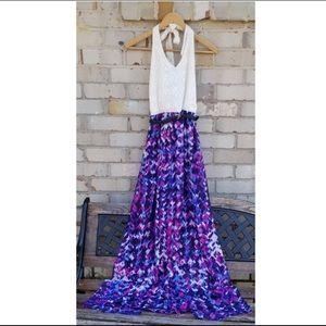 Stunning summer maxi halter dress!